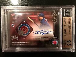 ON-CARD AUTO RELIC 10 - KYLE SCHWARBER COMEBACK JOURNEY HELPS CUBS TIE BGS 9.5