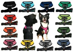 Service Dog Mesh Padded Soft Puppy Pet Dog Harness Breathable 12 Colors 5 Sizes $10.99
