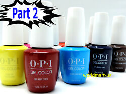 SALE!!! OPI GelColor UVLED Gel Nail Polish 15ml.5oz Choose Any Colour Part 2 $16.99