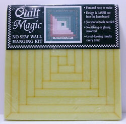 NEW Quilt Magic ~ No Sew ~ Log Cabin Quilt ~ Craft Kit DIY Home Wall Decor