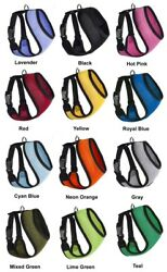 Mesh Padded Soft Puppy Pet Dog Harness Breathable Comfortable 12 Colors 5 Sizes $8.99