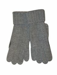 BRIONI Mens Winter Gloves Cashmere Knit Leather Italy Combination Glove M New