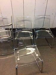 5 Clear Plastic Chairs