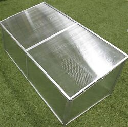 Garden Greenhouse Cold Frame Portable 3.5ft Wx1.5ft D Polycarbonate Panels New