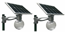 2 sets Outdoor Solar LED Light 40W panel Motion Sensor Yard Street Parking