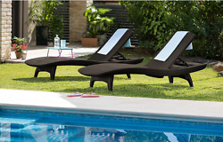 Patio Chaise Lounge Chair Pool Outdoor Furniture Adjustable Folding Beach Yard