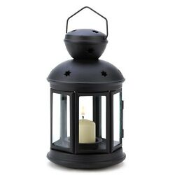 Gifts & Decor Black Colonial Style Candle Holder Hanging Lantern Lamp