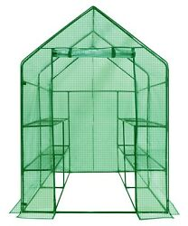 Walk-In Greenhouse Frame Cover Connectors 2-Tier 8-Shelf