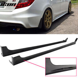 Fits 12-15 Honda Civic 9th 4Dr Mugen RR Style Side Skirts Rocker Panels Pair ABS $139.99
