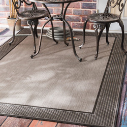 Indoor and Outdoor Rugs for Patios RV Mats Home and Kitchen 5 x 7 Charcoal Grey