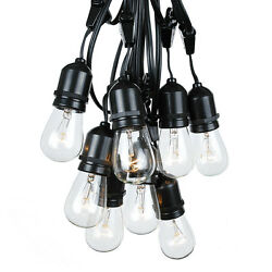 100 Foot S14 Led Lamp Edison Bulbs Outdoor String Lights-Set of 50 Clear S14