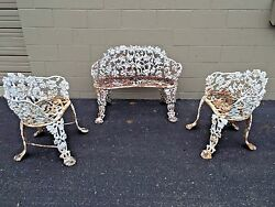 Antique Cast Iron Grape Vine Chair Bench free delivery restrictions apply Garden