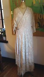 20s Piano Shawl Fringe Opera Coat Silk Kimono Robe Embroidered Edwardian