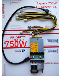 750W Power Supply PSU Customized Kit 6pin for Antminer S7 S9 D3 L3 A741 $89.00
