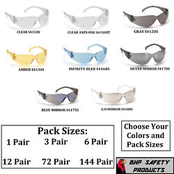 PYRAMEX INTRUDER SAFETY GLASSES ANSI Z87+ WORK EYEWEAR CHOOSE COLORPACK SIZE!