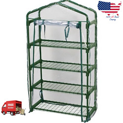 Mini Greenhouse Small Miniature 4 Shelf Garden Kit Vegetable Plant Shelves