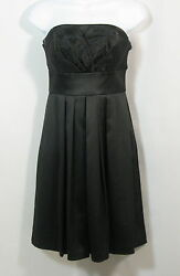 White House Black Market Dress Size 0 Little Black Cocktail Strapless EUC