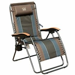 Durable Zero Gravity Chair Oversized XL Padded Support 350lbs Outdoor Pool