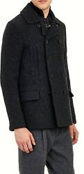 $16K NEW SACAI PEACOAT WITH QUILTED VEST LANA BLEND MJAPAN SZ 2 FITS USA 36-38