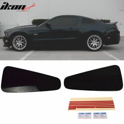 Fits 10 14 Ford Mustang Rear Quarter Window Louver Covers Painted Ebony Black $85.99