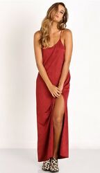 NWT Free People She Moves Maxi Dress Berry Slinky Jersey Sexy