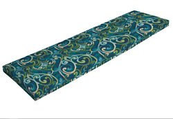 Patio Furniture Cushions for Outdoor Bench 48 Replacement Damask Blue Green NEW