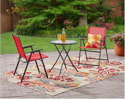 3 Piece Furniture cushions Chairs Outdoor Folding Bistro Set Chair Cheap Patio