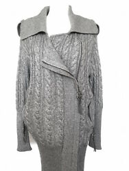 NEW  THOMAS  WLYDE CARDIGAN SIZE XS WOOL CASHMERE GRAY SWEATERS COAT WOMEN