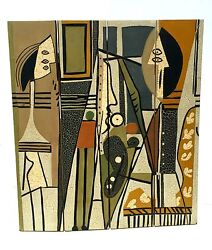 mid century modern room divider after pablo picasso#x27;s artist and model cubist $5000.00