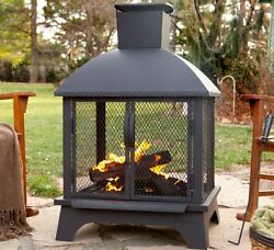 Wood Burning Fireplace Modern Outdoor Chimnea Fire Pit Sale Portable Chimney