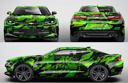 Custom Car Sticker Hood Decal Full Body Livery Vinyl Wrap Radiation Camouflage