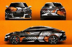 Custom Car Sticker Hood Decal Full Body Livery Vinyl Wrap Urban Camouflage Matte