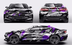 Custom Car Sticker Hood Decal Full Body Livery Vinyl Wrap Urban Snow Camouflage