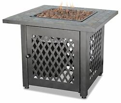 New Outdoor Fire Pit Table Furniture Patio Deck Backyard Heater Fireplace LP Gas