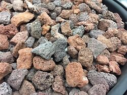 15 Llbs Red Lava Rocks for BBQ Gas Fire Pit Fireplace Aquarium NEW IN BOX