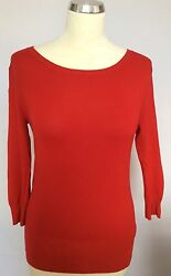 FRENCH CONNECTION RED BUTTON BACK JUMPER SIZE XS