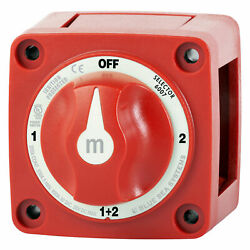 Blue Sea 6007 M Series Selector Battery Switch 4 Position Marine Red $39.03
