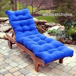 Lounge Chair Cushion Outdoor Seat Padding Tufted Mattress Pool Patio Deck Chaise