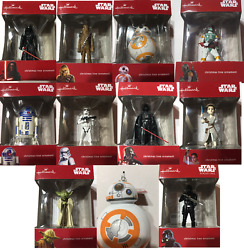 Star Wars Christmas Ornaments by Hallmark Yoda Darth Vader R2D2. BB8 KyloRen $8.50