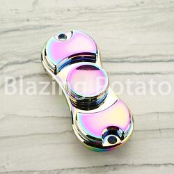 RAINBOW Hand Spinner Tri Spinners Figet Desk Toy Focus EDC ADHD -NEW- ☆USA☆ #D $10.99
