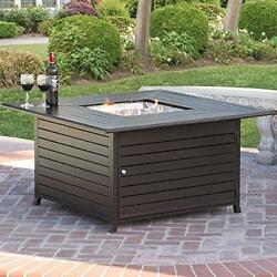 Best Choice Extruded Aluminum Propane Gas Outdoor Fire Pit Table With Cover