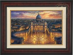 Thomas Kinkade Vatican Sunset 18x27 LE EE Canvas