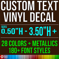Custom Vinyl Lettering Decal Personalized Sticker Window Wall Text City Name Car $3.59