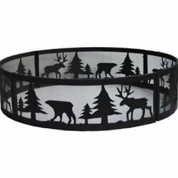 Large Camp Fire Ring Wildlife Design Portable Outdoor Camping Hunters Fire Pit