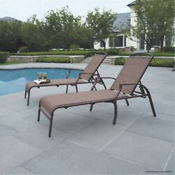 Chaise Lounge Chair Patio Outdoor Pool Furniture Folding Beach Recliner Set of 2
