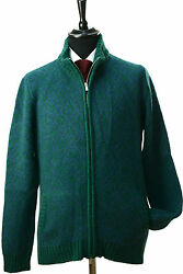 NEW KITON SWEATER CARDIGAN FULL ZIP 100% CASHMERE SIZE 40 US 50 EU - M - KS156