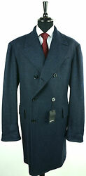 NEW KITON TOP COAT CASHMERE AND SILK  - sz 50 eu 40 us R8 SCARCE KIG121