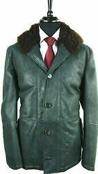 NEW KITON TOP COAT - 100% LEATHER INSIDE CASHMERE  sz 50 eu 40 us SCARCE KIG143