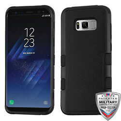 For Samsung GALAXY S8 PLUS Hybrid Rugged Shockproof Protective Case Cover BLACK $8.57