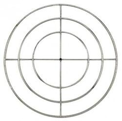 American Fireglass Round Natural Gas Fire Pit Burner Ring 48-Inch